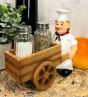 Ebros Spice A La Carte Chef Pushing Wheelbarrow Cart Salt  Pepper Shaker Set