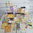Large Lot of Scrapbooking Cardmaking Stickers 46 Packages Food Birthday Flowers