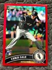 CHRIS SALE RC 2011 Topps Chrome RED REFRACTOR 25 25 RARE ROOKIE!