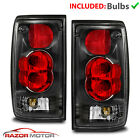For 1989 1995 Toyota Pickup SR5 DLX RN02 Base Black Red Clear Brake Tail Lights