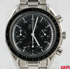 Omega Speedmaster 1750032 Chronograph Black Steel 3220A Automatic 38mm Watch
