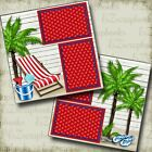 Beach Chair 2 Premade Scrapbook Pages EZ Layout 4066