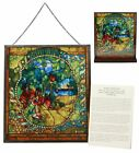 Ebros Louis Comfort Tiffany Four Seasons Summer Stained Glass Art With Base