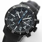 Fortis Diver Black Chronograph Day-Date SS Ref.638.18.41LP Automatic Valjoux7750