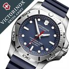 Victorinox I.N.O.X Blue Dial Rubber Silicone Strap Men's Watch