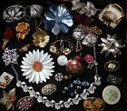 Vintage Mixed Lot of 28 Pieces FLOWER POWER 18 Brooches 28 Pieces Total