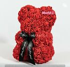 Rose teddy bear Fully Assembled IN GIFT BOX 10 inch Teddy Bear rose RED