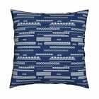 America Native 4Th Of July Blue Throw Pillow Cover w Optional Insert by Roostery
