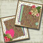 I Love You NPM 2 Premade Scrapbook Pages EZ Layout 4123