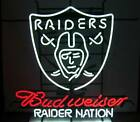 New Oakland Raiders Nation Budweiser Neon Sign 32