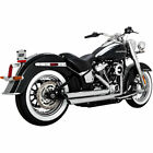 Vance  Hines 17941 Chrome Big Shot Staggered 22 Exhaust 2018 19 Harley Softail