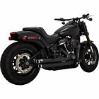 Vance  Hines 47941 Black Big Shot Staggered 22 Exhaust 2018 19 Harley Softails