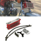 50 70 90 110CC Dirt Pit Bike Horizontal Engine Cooling Radiator System Aluminum