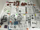 Stampin Up Unmounted Rubber Stamps Assorted Lot Christmas Birthday Misc Craft