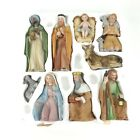 Vintage Homco Ceramic Nativity Set Complete 9 Pieces 5599 Original Packing