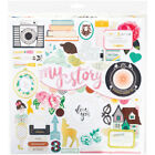 American Crafts Maggie Holmes Open Book Chipboard 12 X 12 Accents