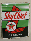 Texaco Sky Chief Oil Vintage Style Porcelain Signs Gas Pump Man Cave Station
