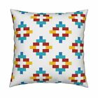 Boho Tribal Native Element Throw Pillow Cover w Optional Insert by Roostery