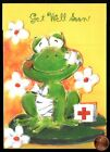GET WELL Frog Bandages First Aid Box Lilypad Get Well Soon Greeting Card NEW