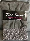 Wild Flowers Queen Size Seamless Active Leggings Grey FITS 160 240 POUNDS