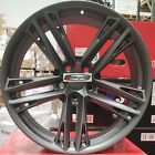 20 New ZL1 Split Style Wheels Black Stagger Rims Fit Chevy Camaro RS SS LS LT