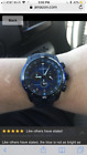 Men's Guess Silver Stainless-Steel Quartz Watch with black dial U12505G1