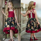 Toddler Baby Kids Girls Summer Sleeveless Dress Princess Party Floral Sundress