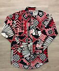 Loud Vintage Mens Native American Indian Wrangler Button Up Western Shirt S M
