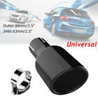 Stainless Steel Black Car Exhaust Tip Baking Paint Round Muffler End Tail Pipe