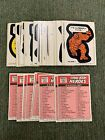 1974-75 Topps Marvel Comic Book Heroes Stickers Set Thing Iron Man Thor + More!