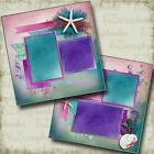 Starfish  Seashells 2 Premade Scrapbook Pages EZ Layout 4124