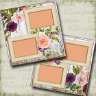 Shabby Woodsy Wedding 2 Premade Scrapbook Pages EZ Layout 4140