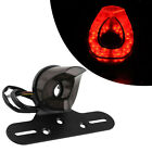 Universal Red Motorcycle 12v Tail Light Stop Brake Lamp with Aluminum Bracket
