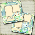 Little Roboto Baby 2 Premade Scrapbook Pages EZ Layout 4132