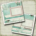 Inspiring 2 Premade Scrapbook Pages EZ Layout 4136