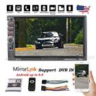 7 2 DIN Car Stereo Radio BT MP5 Player HD 2 USB AUX TF Mirror Link Dash Parts