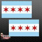 City of Chicago Flag Stickers USA State Window Car Truck Vinyl Decal FS2263