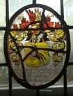 RARE MUSEUM QUALITY EARLY 17th C FLEMISH STAINED GLASS WINDOW PANEL