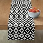 Table Runner Native Black And White Plus Signs Native Native Cotton Sateen