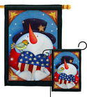 Star Spangled Snowman Winter Christmas Nativity Garden Yard Banner House Flag