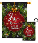 Jesus is the Reason Season Winter Nativity Snow Garden Yard Banner House Flag