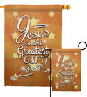 Jesus is the Greatest Gift Winter Nativity Star Garden Yard Banner House Flag