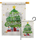 Magic of Christmas Winter Noel Elf Xmas Nativity Garden Yard Banner House Flag