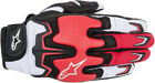 ALPINESTARS Fighter Mesh Touch Screen Motorcycle Gloves Black White Red  Small