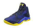 Under Armour Mens Curry 25 Basketball Shoe Blue Yellow Athletic Sneaker