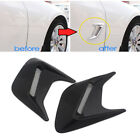 Black Car Styling Fake Vent Air Flow Fender Decal 3D Shark Grilles Sticker A2