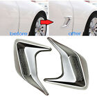 Silver Car Styling Fake Vent Air Flow Fender Decal 3D Shark Grille Sticker A2