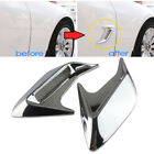 Chrome Silver Fake Vent Air Flow Fender Decal 3D Shark Grille Sticker A2