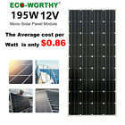 ECO 200W 18V Mono Solar Panel battery charge for Home RV Caravan Battery Charge