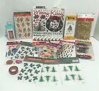CHRISTMAS Holiday Scrapbook Stickers Embellishments Rub Ons Lot of 18